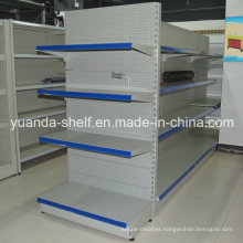 Steel Gondola Back Hole Supermarket Display Shelf