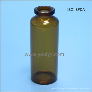 Bouteille en verre tubulaire de 30 ml