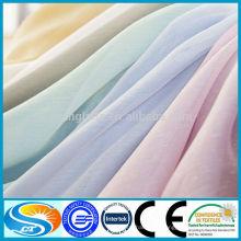Vente en gros 100% polyester ignifuge rideau voile tissu