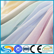 Wholesale 100% polyester fire retardant curtain voile fabric