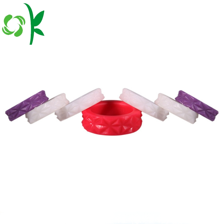 Purple Diamond Silicone Ring