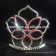 girls hair accessories silver plated crystal headband flower