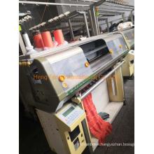 Kauoheng Kh 313 J - 14 Guage Needle Bed 40 Inches Used Flat Knitting Machine Collar Machine Semi Jacquard Machine Year 2002-2005