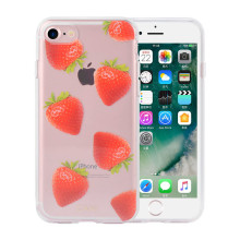 IML PC & TPU Hibrit Straberries Iphone8 Plus Koruyucu Kılıf