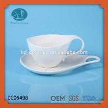 Фарфоровая кофейная чашка и блюдце для напитков, заказная кофейная чашка и блюдце с печатью