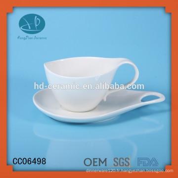 Boîte à café et soucoupe en porcelaine de type drinkware, tasse à café et soucoupe personnalisés avec impression