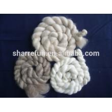 cachemir mongolia peinado y cabelludo blanco / gris claro / marrón