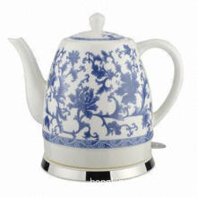 Electric Ceramic Kettle with 1.2L Capacity and Switch-on/off, Boil-dry Protection