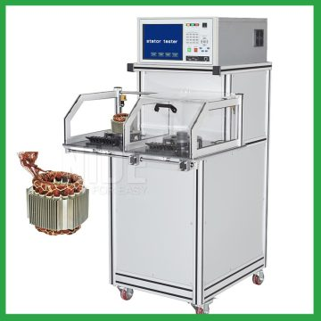 Automated electric motor stator testing machine