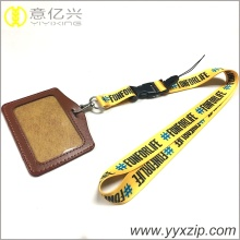 Heat transfer printing green lanyard necklace keychain