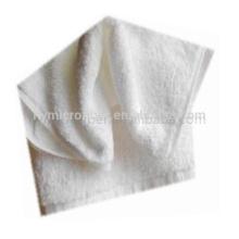 Vente chaude tissu de serviette de bain en coton blanc pur, serviette de bain en molleton de corail