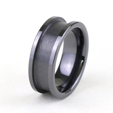 Kosong Tungsten Carbide Ring Blanks Untuk Inlay