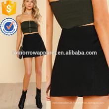 Sólido Cintura Alta Saia Fabricação Atacado Moda Feminina Vestuário (TA3067S)