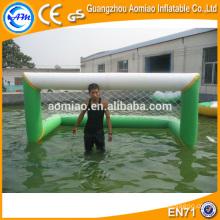 Juegos inflables del deporte de agua, meta inflable del polo de agua para la venta
