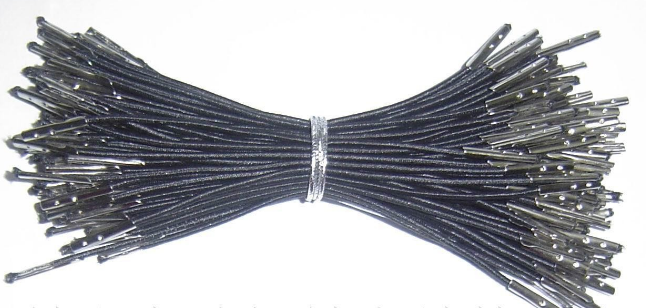 Black Elastic String With Metal Barb