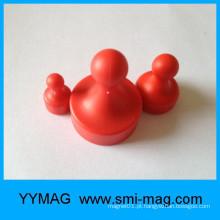 Múltiplos tamanhos de escolha Pin magnético vermelho