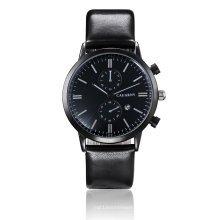 6821 Multifunktions-Armbanduhr Schwarz IP-Plated