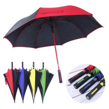 Promotional Auto Open Colour Matching Frame Windproof Golf Umbrella Wholesale