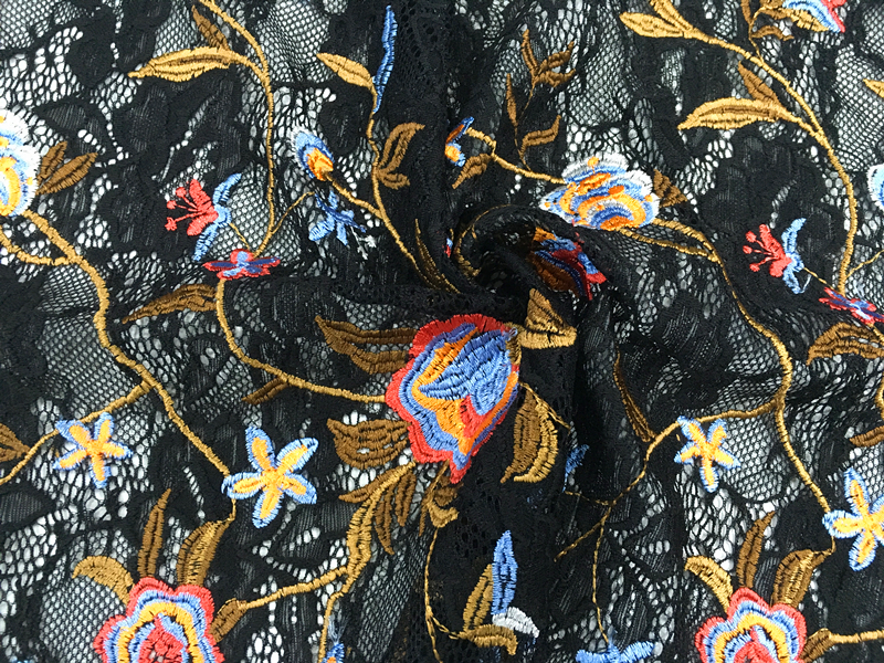Fall Garment Embroidery Fabric