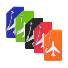 Etiqueta de equipaje de silicona popular
