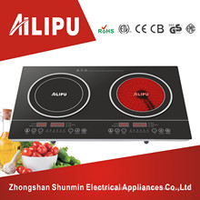 Double Rings Two Plates Induction Cooker&Infared Cooker