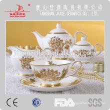 Экспорт кость фарфор цвет глазурованная эмаль посуда фарфор керамический кофе набор производство