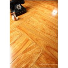 Hogar 12.3mm Mirror Walnut Sound Absorbing Laminated Floor