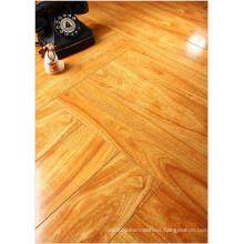 Household 12.3mm Mirror Walnut Sound Absorbing Laminated Floor