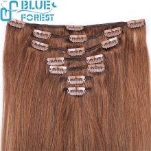 wholesale unprocessed 100% human hair clip in hair extension
