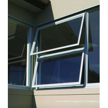 vertical hinged window/vertical opening window/foshan wanjia brand