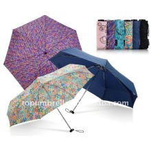 Square micro mini 5 fold umbrella