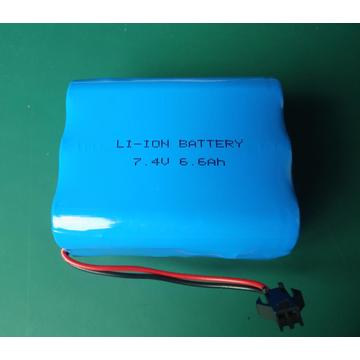 7.4V 7.6Ah high discharge 18650 battery pack