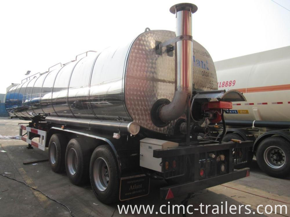 Lr Road Insulation Tank Semi Trailer For Transporting Bitumen
