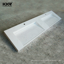 Factory Direct Supply Texture Marble Acrylic Solid Surface Bathroom Vanity Top with Integral Sink
