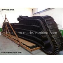 Xe-Sc-800/4 + 2 Seitenwand Gewellter Gummi Conveyoyor Gürtel