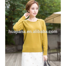 2015 fashion women's cashmere embroidering sweater