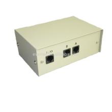 Compartilhamento manual de 2 portas Rede Ethernet RJ45 Data Switch Selector Box (6070)