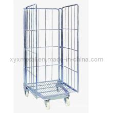 3-Seiten-Aufbewahrung Faltender Metalldraht-Gabion-Rollen-Käfig-Behälter