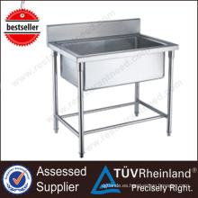 China Exportador Shinelong fregadero de cocina de acero inoxidable de pie