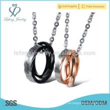 Buena calidad de los anillos par de diseño colgante, colgante collar proveedor