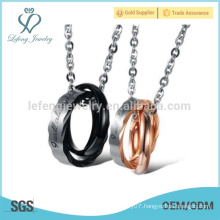 Good quality rings couple pendant design,pendant necklace supplier