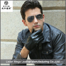 China supplier Men's Driving Wrist Elasticated Cuff mens Leather Gloves