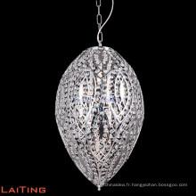 Moderne k9 cristal clair lustre chrome pendentif lumière maison lustre éclairage