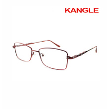 Low price cheap Economic basic line Lady metal optical frames / metal eyeglasses
