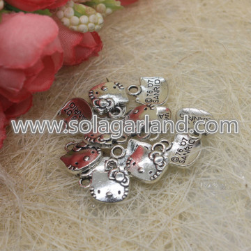 Antique Silver Hello Kitty Pendentifs Pendentifs Pendentifs
