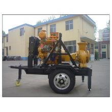 Conjunto de bomba de água diesel motor com rodas Trailer