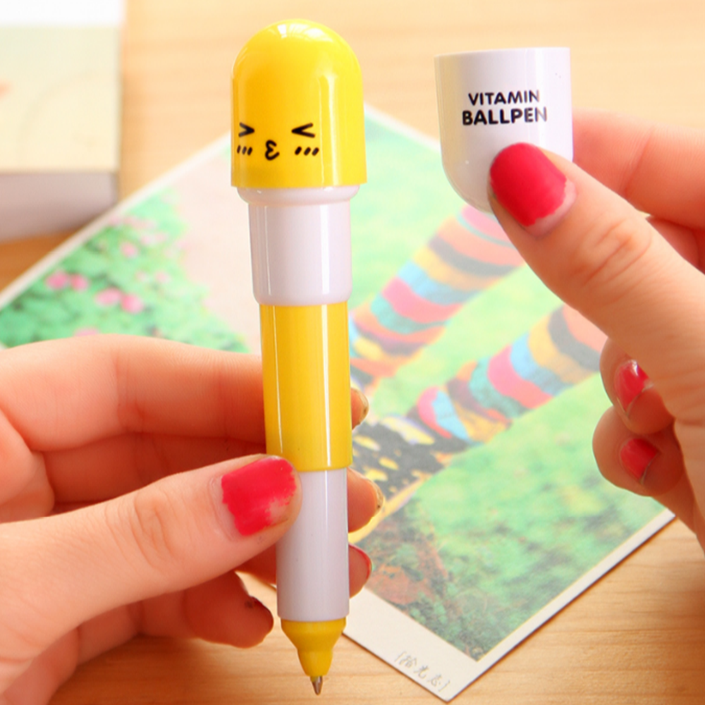 Mini Pill Shape Retractile Ball Pens