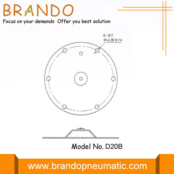 DMF-ZL-B pulse valve diaphragm dimension