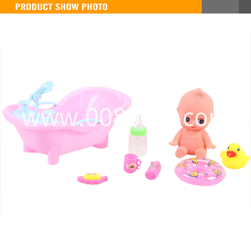 Popular 7 inch small bath doll silicone doll kits