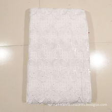 White Double Net Handcut Lace For Wedding Dress